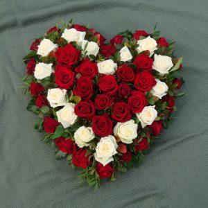 Rosenherz rot und weiss